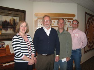 From left to right: Betsy Clay, Canton area WAPF Chapter Leader; David Augenstein, Co-director of Ohio Connections to Whole Food and Nutritional Healing; Gary Cox, Legal counsel for Farm-to Consumer Legal Defense Fund; and Tim Wightman, Ohio Dairy Farmer and Board member of FTCLDF