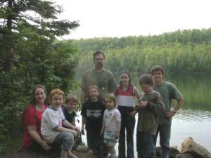 Fischer Family at Bean Lake in Minnesota